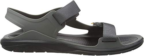 Crocs Swiftwater Molded Expedition Sandal, Sandalias de Punta Descubierta para Hombre, Gris (Slate Grey/Black 0dy), 45/46 EU