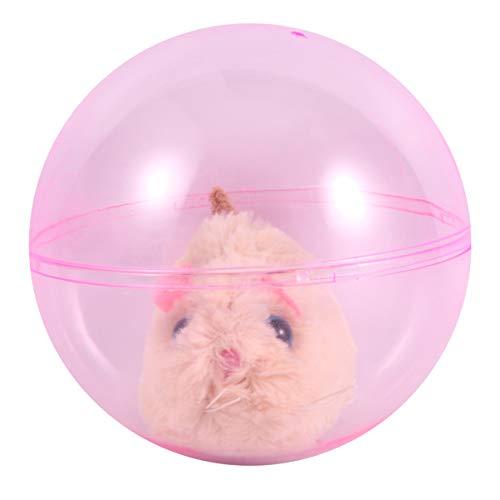 STOBOK Laufender Hamster Ball Spielzeug Plüsch Rollender Hamster Ball Elektrisches Tier Ball Spielzeug für Kinder (Gelb)