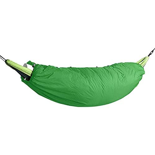 Amaca Handmade Winter Outdoor Hammock Cover Camping Ultralight Full Lunghezza Sacco a Pelo Coperte Coperta Zipper Elastic Hammock 200 * 75 cm Swing (Color : Army Green)