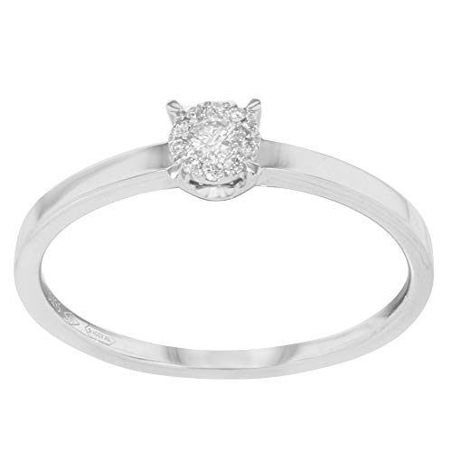 Damiani 18k White Gold Diamond Engagement Ladies Ring Bliss by 0.10Cttw Size 6.5