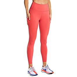 CRZ YOGA Women's Naked Feeling Gym Leggings Squat Proof High Waist Yoga Pants Sports Tights with Pocket-25 Inches