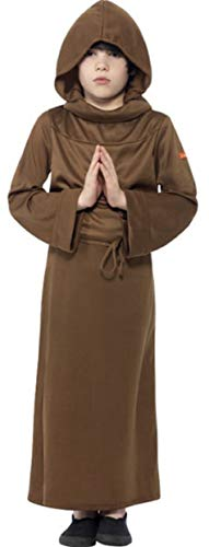Fancy Me Jungen Schreckliche Geschichten Mönch Religiös Friar Tuck Historisch Kostüm Kleid Outfit - Braun, 7-9 Years