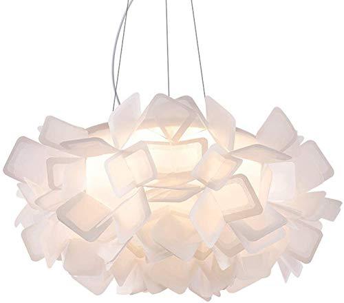 YFAZTS Italia CLIZIA Araña de Origami Castaño lámpara Colgante nórdica Simple Home Iluminación LED Sala Comedor Lámpara de acrílico,Blanco