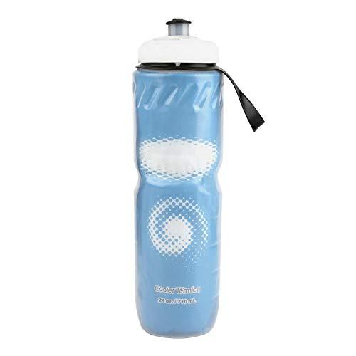 minifinker Botella de Agua de 710Ml Conveniente Fácil de Llevar para Andar en Bicicleta, IR de excursión, Acampar para Uso al Aire Libre(Blue)