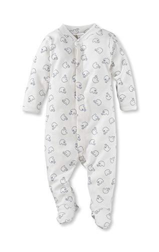 hessnatur Baby Mädchen und Jungen Unisex Schlafoverall aus Reiner Bio-Baumwolle Bedruckt 50/56