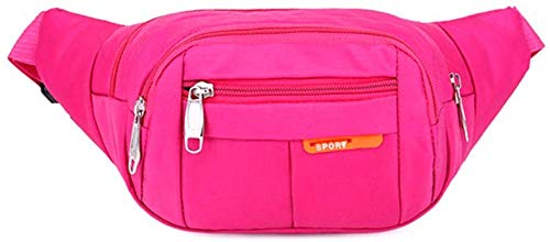 Sports Waist Packs Fanny Bag, Multiple Functions Hip Bum Chest Belly Back Bags with Adjustable Belt Strap for Men, Women Fit for Outdoor Events Like Hiking, Cycling, Running (Pink)
