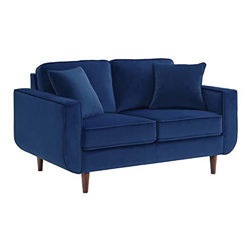 Lexicon Mapleton Living Room Loveseat, Navy Blue