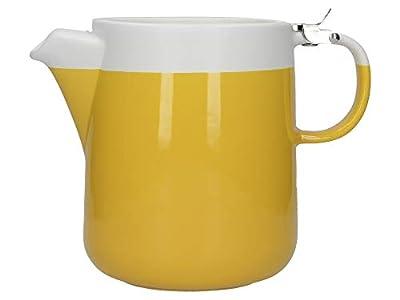 La Cafetiere (UK) Limited C000513 La Cafetière Barcelona Teapot, Mustard/White, Ceramic