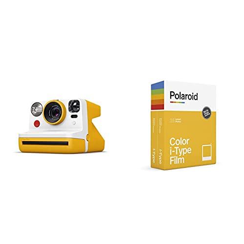 Polaroid - 9031 - Polaroid Now Fotocamera Istantanea i-Type, Giallo + 6009 - Pellicola Istantanea Colore per i-Type – Confezione Doppia