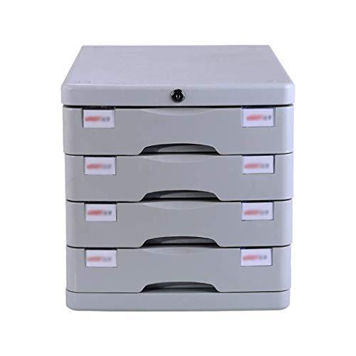 LHQ-HQ Desktop-Fach Sorter 4-lagig, mit Verschluss aus Kunststoff Schubladeninformationsbüro A4 Speicher Weiß (4-Ebenen-Größe: 11.3in * 14.6in * 11.4in) Zeitungsständer