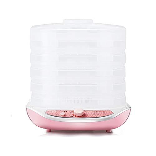5-stufige Obst-Dehydrator-Maschine, professionelle Küche Elektro-Dampfgarer Hochwärme-Umlauf Trockner Konservierer Kunststoffschale Geräuscharm, für Kräuterfleisch Rindfleisch Lebensmittel Gemüse