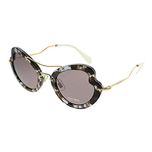 Miu Miu 0MU11RS UAH6X1 52 Gafas de sol, Marrón (Lilac Havana/Purple Brown), Mujer