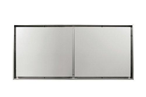 NOVY 855 Ceiling built-in cooker hood Acier inoxydable - Hottes (Intégré au plafond, Acier inoxydable, 15 cm, 1460 mm, 90 mm, 670 mm)