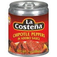 La Costena Chipotle Peppers in Adobo Sauce 7 Oz by La Costena