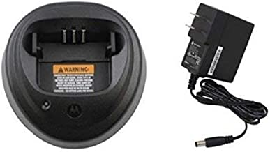 PMPN4173A PMPN4173 Original Motorola IMPRES MOTOTRBO Single Unit Rapid Charger with AC 120V Power Adapter - Replaced WPLN4137 WPLN4137 WPLN4138 - Compatible w/ CP200D, CP200 Series, CP150, PR400 and more