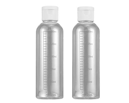 2 pcs Botes Transparentes rellenables vacíos con dosificador para Viaje Maquillaje cosmético ml (150 ml)