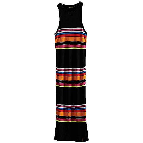 Superdry Midi Dress Vestito, Nero (Black Stripe Aem), S (Taglia Produttore:10) Donna