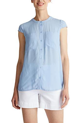 ESPRIT Damen 040EE1F309 Bluse, 440/LIGHT Blue, 44