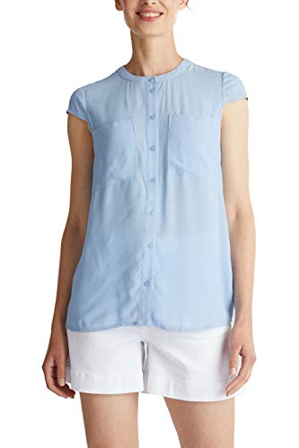 ESPRIT Damen 040EE1F309 Bluse, 440/LIGHT Blue, 36