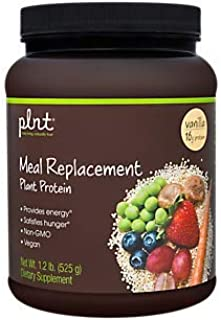 plnt Vanilla Meal Replacement Powder Vegan NonGMO Plant Protein That Provides Energy Satisfies Hunger, 16g of Protein Per Serving (1.2 Pound Powder)
