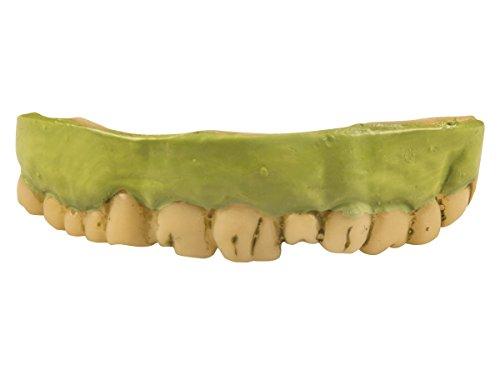 Dents de zombi verts en silicone très souple pour adultes et enfants (72057) Réutilisables Idéal pour compléter votre déguisement Accessoire authentique pour vos fêtes d'Halloween ou de carnaval