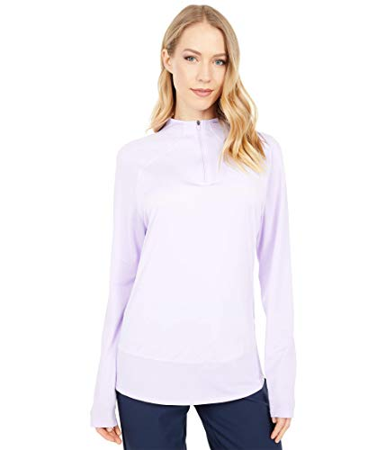 PUMA Golf Women's Mesh 1/4 Zip, Light Lavender, Small