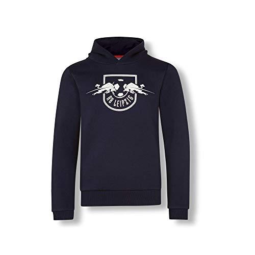 RB Leipzig Essential Mono Hoodie, Blau Youth Größe 152 Kapuzenpullover, RasenBallsport Leipzig Sponsored by Red Bull Original Bekleidung & Merchandise