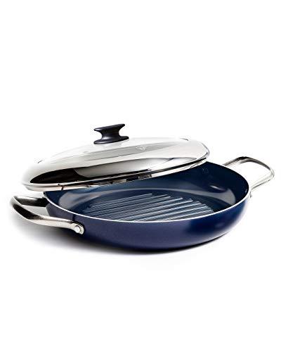 Blue Diamond Cookware Grill Genie Ceramic Nonstick Grill Pan