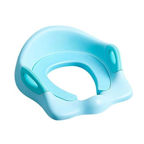 Portatile e Bello Toilette Bambino igienici Bagno Mobile banale del Bambino Molle Comodo Toilet Seat Toilet Seat Domestica Bambino igienici Facile da Pulire (Color : Blue)