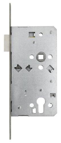 ABUS Tür-Einsteckschloss Profilzylinder THZ90 Stumpf für DIN-rechts Türen, silber, 57207
