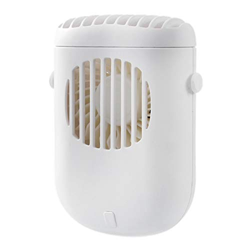 Pineapplen Ventilador de Cereza de Invierno GXZ-F858, Ventilador Silencioso de Mano PortáTil para Exteriores USB para Oficinas y Dormitorios (Blanco)