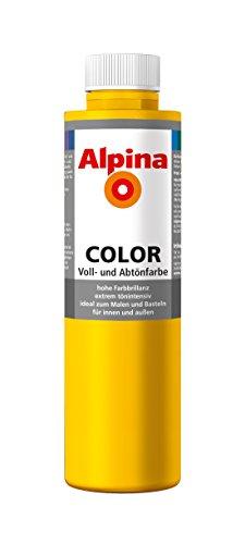 Alpina Farben Voll und Abtönfarbe Wandfarbe Alpina Color Farbton Lucky Yellow 750 ml