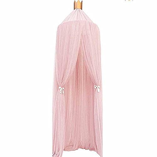 Bett Moskitonetz Prinzessin rosa Frau Bett Baldachin Baby Insektenschutz Bett Netz Einzelbett zu Kingsize-Bett Hängematte Kinderbett einfach zu installieren, ideal für Schlafzimmer Dekoration,Pink