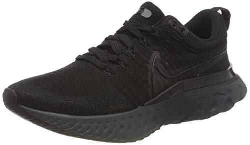 Nike React Infinity Run FK 2, Zapatillas para Correr Hombre, Black Black Black Iron Grey White, 42.5 EU