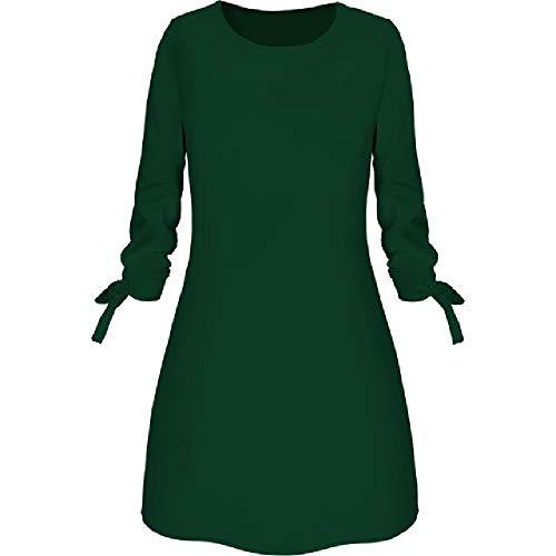 Mode Jurk Elegante Effen Kleur Ronde hals Lange mouwen Casual Office Lady Jurk