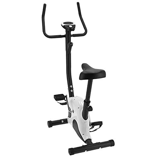 Ausla - Bicicleta estática, bicicleta de fitness, bicicleta de ejercicio, bicicleta de interior silenciosa, perfecta para entrenamiento de cardio, con pantalla electrónica de 10550 g