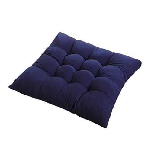 PICTURESQUE Cojines para Silla de Color Sólido con Cordón 35x35cm 1PC Azul...