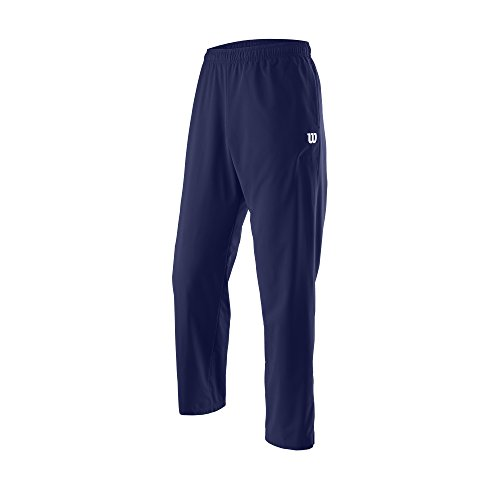 Wilson Pantaloni Sportivi da Uomo, M Team Woven Pant, Poliestere, Blu, Taglia: L, WRA765702
