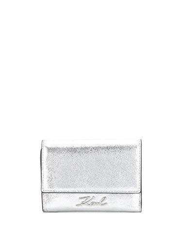 Luxury Fashion | Karl Lagerfeld Dames 20KW201W3241SILVER Zilver Leer Portemonnees | Lente-zomer 20