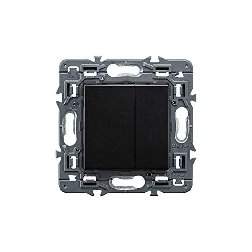 Regulador universal con pulsador Valena 3 hasta 400W, modelo Valena Next, color negro, 6 x 8,5 x 8,5 centímetros (referencia: Legrand 741454)