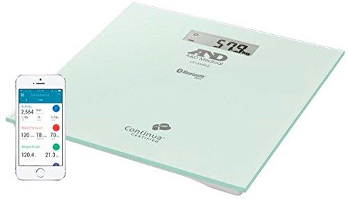 A&D Medical-352BLE Báscula de Baño, Bluetooth, aplicación A&D Conne