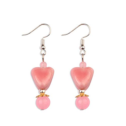 earring New Ceramic Beads Earrings Pink ,fashion Vintage Ethnic Earrings
