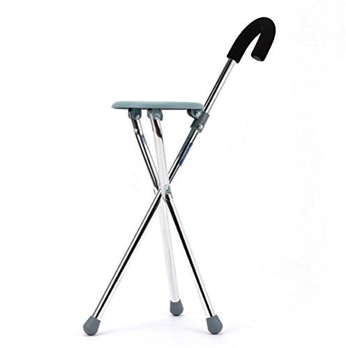 RUIRUI Acier Inoxydable Chaise Pliante Loisirs Alpinisme Canne bâton de Marche Personnes âgées