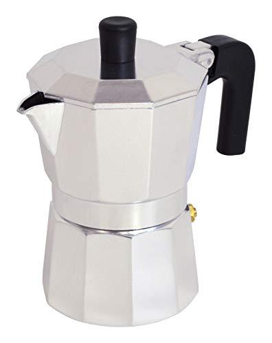 Pintinox Caffettiera Moka 6 Tazze Modello Capri in Alluminio, Manico Antiscottatura e Forme che Consentono una Perfetta Estrazione del Caffè, Notevole Risparmio Energetico