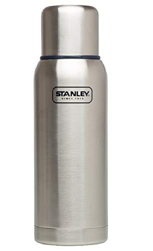 Stanley Adventure Vakuum-Thermosflasche 1 Liter, Stainless, 18/8 Edelstahl, integrierter Thermobecher, Doppelwandige Isolierung, Isolierflasche Thermoskanne