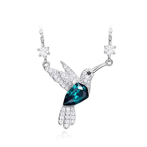CAHM S925 Plata esterlina Collar pájaro Collar Personalidad artículo Damas Simple cálido...