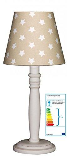 Tischlampe Sterne beige Shabby