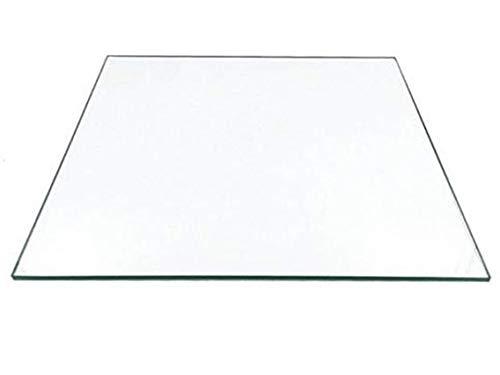 Piastra di costruzione in vetro borosilicato 230 x 150 x 3 mm per stampanti 3D, vetro perfettamente piatto con bordi lucidi