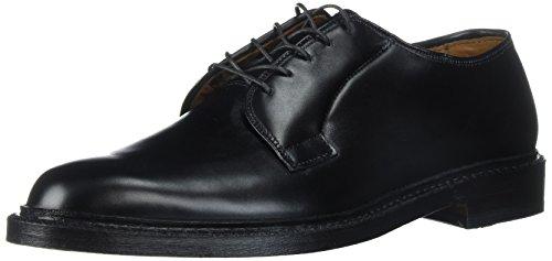 Allen Edmonds Men's Leeds Plain Toe Blucher Oxford, Black Calf, 8.5 D US