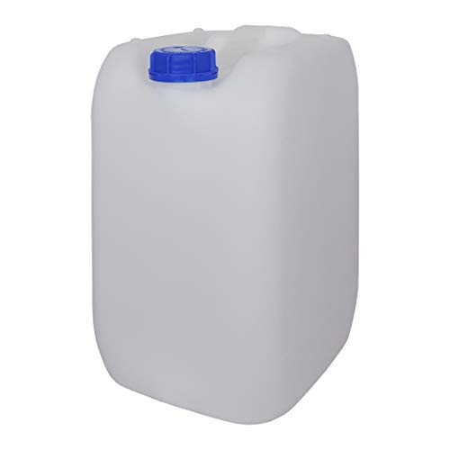 Bidón Garrafa Plástico 20 litros apilable. Apta para uso alimentario. Homologación para transporte. (1 Unidad).